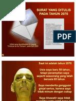 Surat Dari Tahun 2070 Seminar Lingkungan Hidup Zae3905 111115090823 Phpapp01