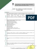 Curso de Auditor Líder NBR ISO 9001:2008