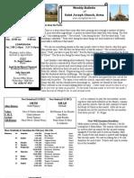 St. Joseph's February 5, 2012 Bulletin