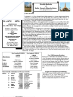 St. Joseph's February 12, 2012 Bulletin