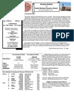 St. Michael's February 26, 2012 Bulletin