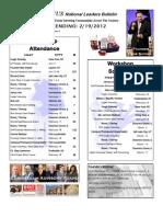 Renatus Bulletin 2.19.12