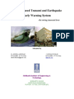Satellite Based Tsunami & Earthquake Early Warning System