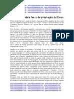 A BÍBLIA É A ÚNICA FONTE REVELADA DE DEUS