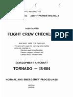 0000104-Panavia Tornado Flight Crew Checklist