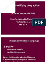 Factors Modifying Drug Actions,Blok BBS 251110