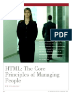 Core Principles Managing People