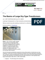 The Basics of Large Dry-Type Transformers