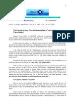 RDC-La Paix aujourd'hui Dec 2009