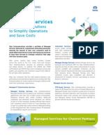 Channel Partner Managed Services Data Sheet