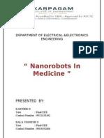 Nano Robots in Medical Field