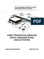 US Army Medical Course MD0150-100 - Army Preventive Medicine Units, Organizations, And Activities