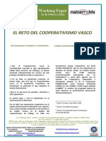 EL RETO DEL COOPERATIVISMO VASCO (Es) THE CHALLENGE OF BASQUE CO-OPERATIVES (Spanish) EUSKAL KOOPERATIBAGINTZAREN ERRONKA (Es)