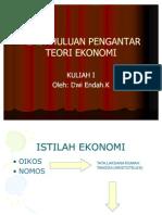 Pendahuluan Pengantar Teori Ekonomi