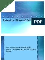 Retention Phase of Orthodontics