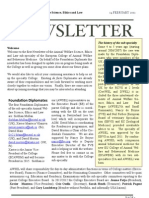 AWSEL Newsletter Feb 2012 Vol 1.1