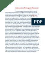 Swami Vivekananda and his message