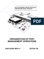 US Army Medical Course MD0174-100 - Organization of Pest Management Operations