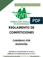 Carreras por Montaña Federación Andaluza de Montañismo