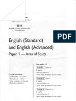 HSC English Paper 1 - Area of Study - 2011