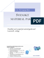 Swedish Material Package - svenskt materialpaket