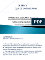 4 CE ELEC2 Earthquake Dynamic Lateral Force Procedure