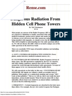 Dangerous Radiation From Hidden Cell Phone Towers