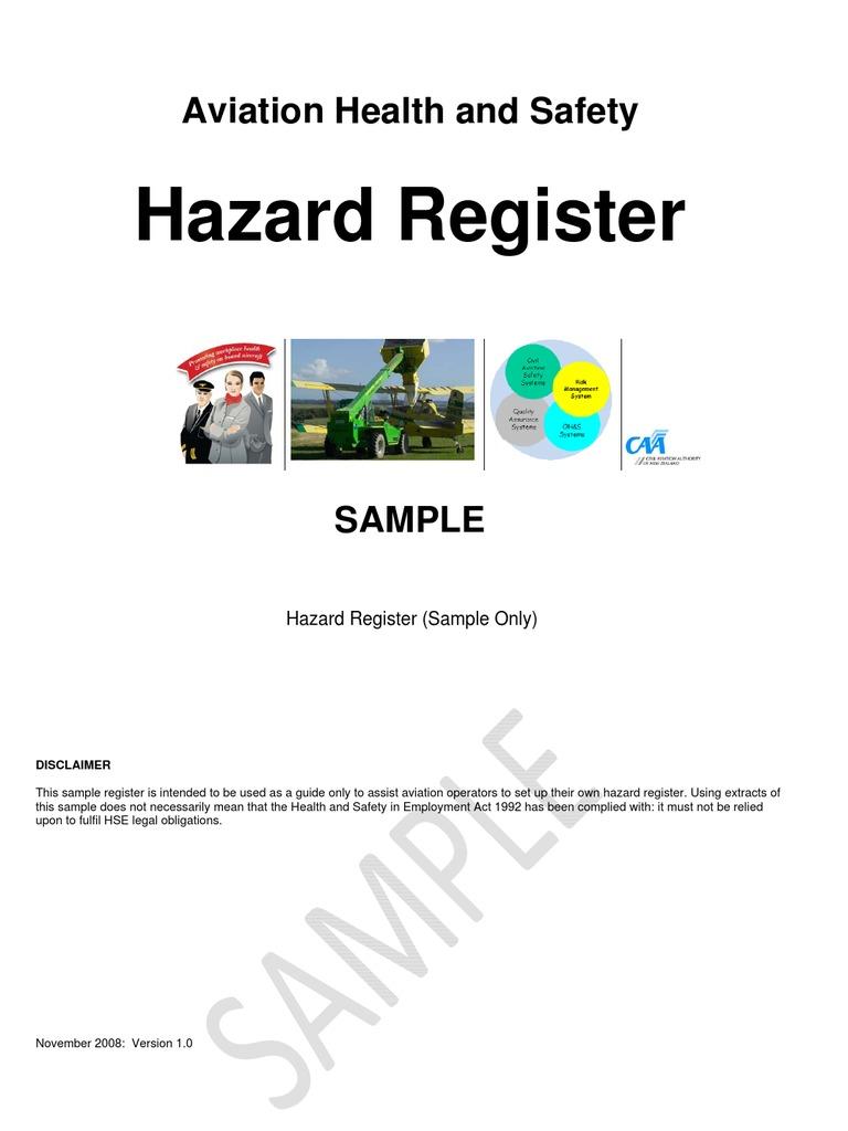 Hazard register personal protective equipment baggage maxwellsz