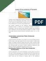 The Causes of Occurrence of Tsunami Sebab Tsunami