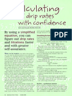 Calculationg IV Drip Rates With Confidence