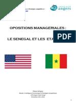 Oppositions managériales Sénégal-Etats-Unis - Thiam Sérigne - M2 IESC - Université d'Angers