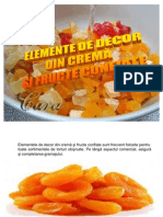 Elemente de Decor Din Crema Si Fructe Confiate