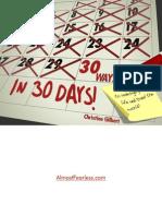 30 Day 30 Way eBook