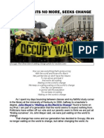 Occupy Waits No More, Seeks Change