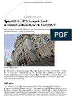 Spin-Off Der TU Graz Setzt Auf Kommunikation Mensch-Computer