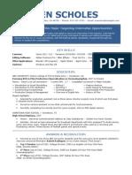 Sample Resume Film Industry Internship