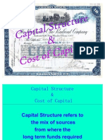 Capital Structure and Cost of Capital