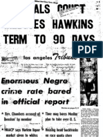 "Los Angles Tribute from Aug. 7, 1959, in re Mike Wallace the Nation of Islam and ""The Moslem Brotherhood, USA"" (pp. 3 and 4)"