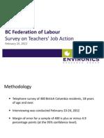 Teachers' Survey
