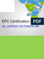 EPC Certification in UK