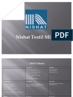 Nishat SWOT Analysis