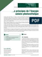 Principes du photovoltaique