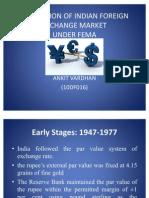 Regulation of Indian Foreign Exchange Market