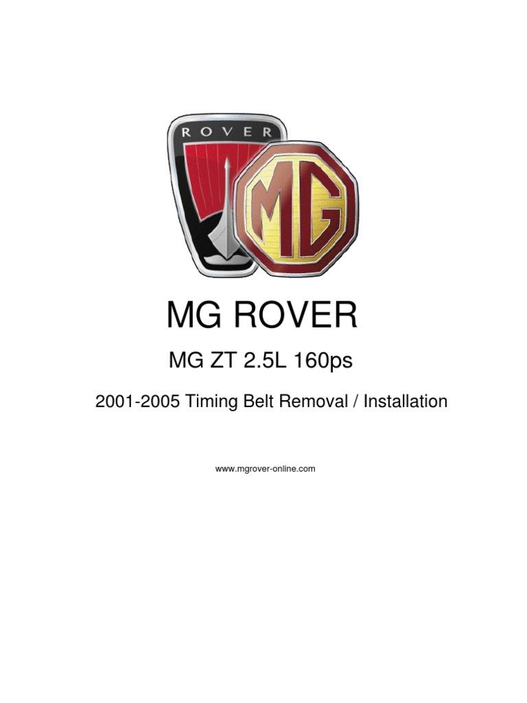 69956217 Mg Zt 2 5 160 2001 05 Timing Belt Mechanical Screw Rover