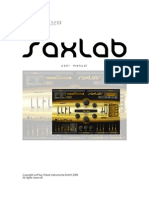 SaxLab Manual 203E
