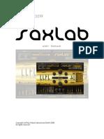 SaxLab Manual 203E
