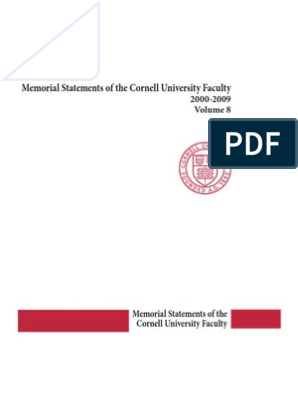 v8 2000s Memorials | Cornell University | Spectroscopy