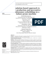 Simulation-Based Approach to Joint Production and Preventive Maintenance Scheduling on a Failure-prone Machine