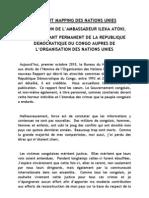 La Position de La Rdc Sur Le Rapport Mapping