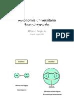 Autonomía universitaria Bases conceptuales - Autonomia y control
